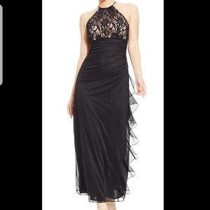 Blondie Nites Junior Sequin Cascade maxi dress